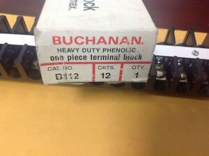 Reduced b112 Buchanan 12 Circuit Heavy Duty Phenolic Terminal Block New In Box