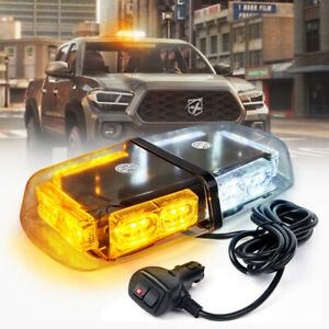 Xprite 36 Led Vehicle Rooftop Strobe 12 Light Bar Emergency Flash White Amber