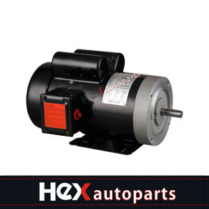 New Electric Motor 56c Single Phase Tefc 115 230 Volt 3450 Rpm 2 Hp
