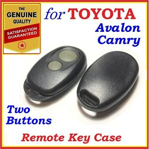 Fit Toyota Camry Avalon Remote Case Shell Two Buttons Year 2000 2006