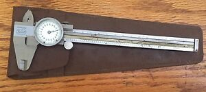 Helios 6 Dial Caliper With Leather Sheath