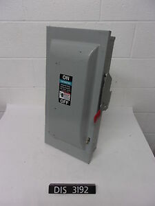 New Other Siemens 240 Volt 100 Amp Non Fused Disconnect Safety Switch dis3192