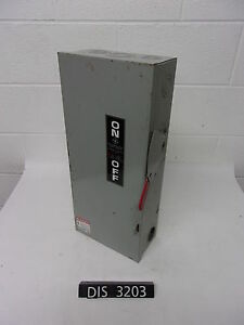 Ge 240 Volt 100 Amp Fused Disconnect Safety Switch dis3203
