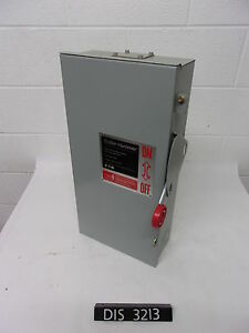 New Other Cutler Hammer 250volt 100 Amp Fused Disconnect Safety Switch dis3213