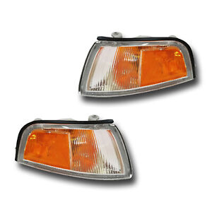 Fits 97 01 Mitsubishi Mirage Sedan Left Right Signal Parking Light Assembly Pair