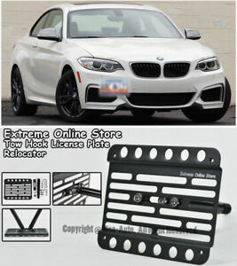 Front Bumper Tow Hook License Plate Bracket Holder For 17 up Bmw M240i With Pdc