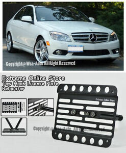 For 08 14 Benz W204 C63 Amg No Pdc Front Bumper Tow Hook License Plate Bracket