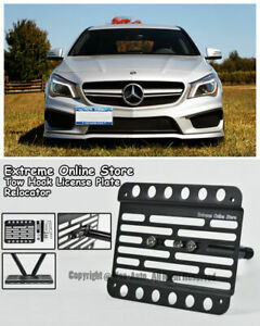 For 14 Up Benz Cla45 Amg Sport Package Front Tow Hook License Plate Bracket