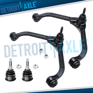 4pc Front Upper Control Arm Lower Ball Joint Kit For 2002 2003 2004 Jeep Liberty