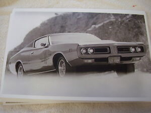 1971 Dodge Charger R t 11 X 17 Photo Picture