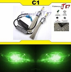 Led Kit C1 60w 880 Green Two Bulbs Fog Light Replacement Upgrade Show Use Lamp