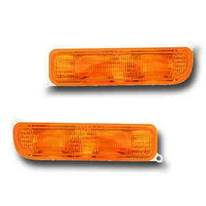 Fits 97 01 Jeep Cherokee Left Right Turn Signal Parking Light Assembly 1 Pair