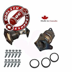 Both Front Right Left Catalytic Converters For 2002 2003 Nissan Maxima 3 5l