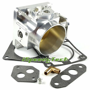 75mm Throttle Body For Ford Mustang Cobra 5 0l V8 Gt lx 86 93 Aluminum Od 80mm