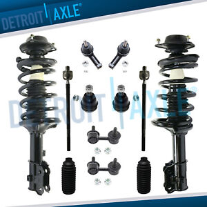 New 12pc Complete Front Quick Install Ready Strut Suspension Kit For Hyundai