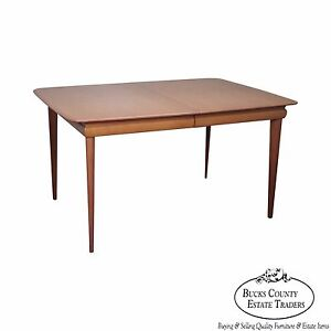 Heywood Wakefield Mid Century Modern Solid Maple Champagne Finish Dining Table