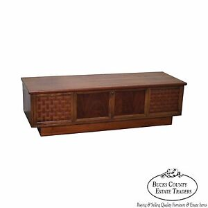 Lane Perspective Mid Century Modern Walnut Blanket Cedar Chest