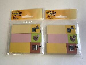 2 Lot Post it Page Marker Flag 1 In X 3 In 3 Pads With 50 Flags Each