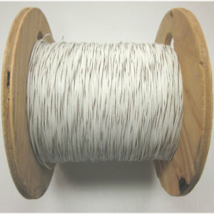 1650 Ft Rc1c18awgwt br 18awg Hook Up Wire White W Brown Stripes Electrical