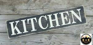 Large Rustic Primitive Wood Sign Kitchen Farmhouse Country Distressed Home Decor