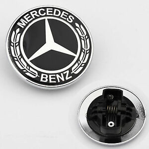 Mb He B Black Mercedes Benz Star Hood Flat 2048170616 Conversion Emblem Badge