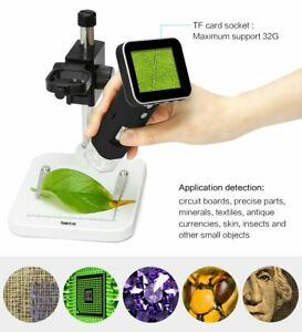 3 5 Lcd 20x 300x Desktop Lab Digital Microscope 5mp Hd Usb av Tv Camera Video