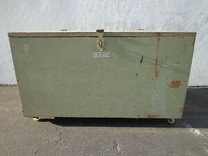 Trunk Vintage Military Foot Locker Storage Rustic Steamer Coffee Table Bench