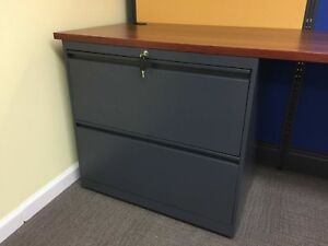 Lateral File Cabinet 2 Drawer New Color Gray