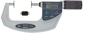 Mitutoyo Quickmike Non rotating Disk Disc Flange Micrometer 25 55mm 0 001mm