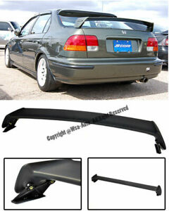 Mugen Style Rear Spoiler Roof Wing Abs Plastic For Civic Sedan 4dr 1996 2000