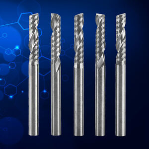 5pcs Tungsten Carbide Pcb Single Flute End Mill Milling Cutter Tool 3 175x 12mm