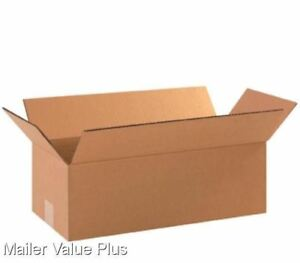 50 18 X 6 X 6 Corrugated Shipping Boxes Packing Storage Cartons Cardboard Box