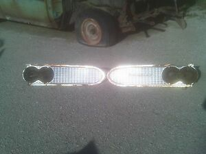 1959 Pontiac Convertible Grill Catalina Bonneville Headlight Buckets