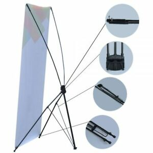 Us Stock Economy Aluminum Foot Tripod X Banner Stand stand Only 10 Pcs pack