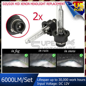 4pcs 6000lm Hid Xenon Replacement Headlight Light Lamp Bulbs For Philips D2r D2s