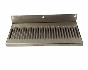 6 X 14 Stainless Steel Wall Mount Draft Beer Drip Tray