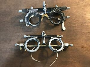 Lot Of 2 Vintage Trial Lens Frames Ophthalmology Steampunk Used Ortho poise