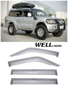 For 01 06 Mitsubishi Montero Wellvisors Side Window Visors Premium Series