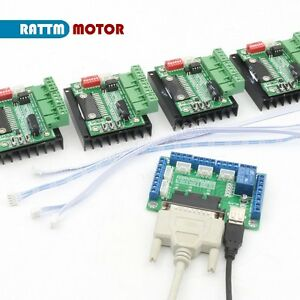 4pcs Tb6560 Single Axis Cnc Stepper Motor Driver 5 Axis Breakout Board Interface