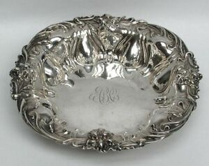 Beautiful Art Nouveau Era Meriden Sterling Silver 8 5 Bowl