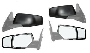 New Snap On Side Towing Mirror Extension Pair For 2015 2016 Gmc Yukon