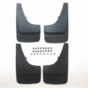 17 X10 Mud Flaps Universal Splash Guards Front Rear Includes Hardware