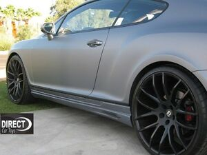 2005 2009 Bentley Continental Gt Euro Style Side Skirts unpainted
