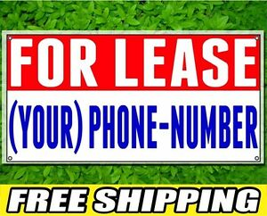 2ft X 4ft For Lease Sign 13oz Vinyl Banner With Grommets Full Color Printed