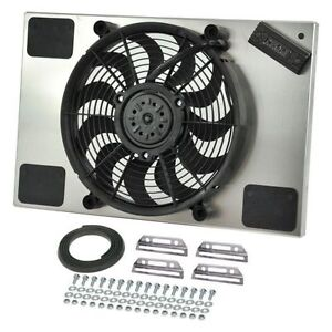 Derale 66827 High Output Single 14 Electric Rad Fan aluminum Shroud Kit
