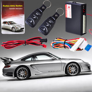 Universal Car Keyless Entry System Remote Control Key Door Lock Controller Kit