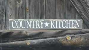 Large Primitive Wooden Sign Country Kitchen Rustic Farm House Distressed Home