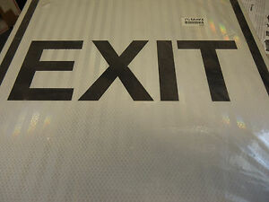 Zing Eco Traffic 2405 18 X 18 Exit Sign Road Traffic Control