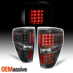 Black 2009 2014 Ford F150 F 150 Led Tail Lights Lamps Pair 2010 2011 2012 2013