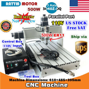 us 3 Axis 500w 3040z dq Desktop Cnc Router Engraving Milling Machine Kit 110v